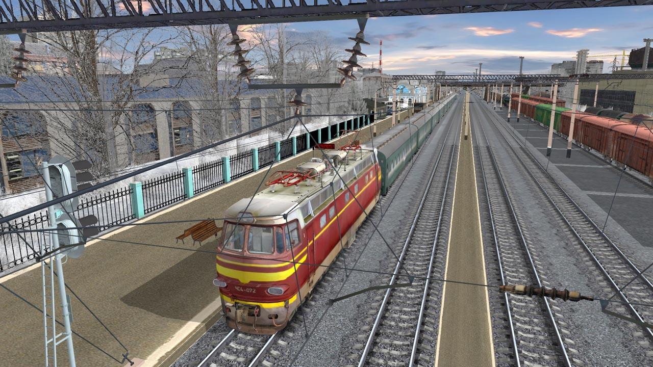 俯视火车矢量图