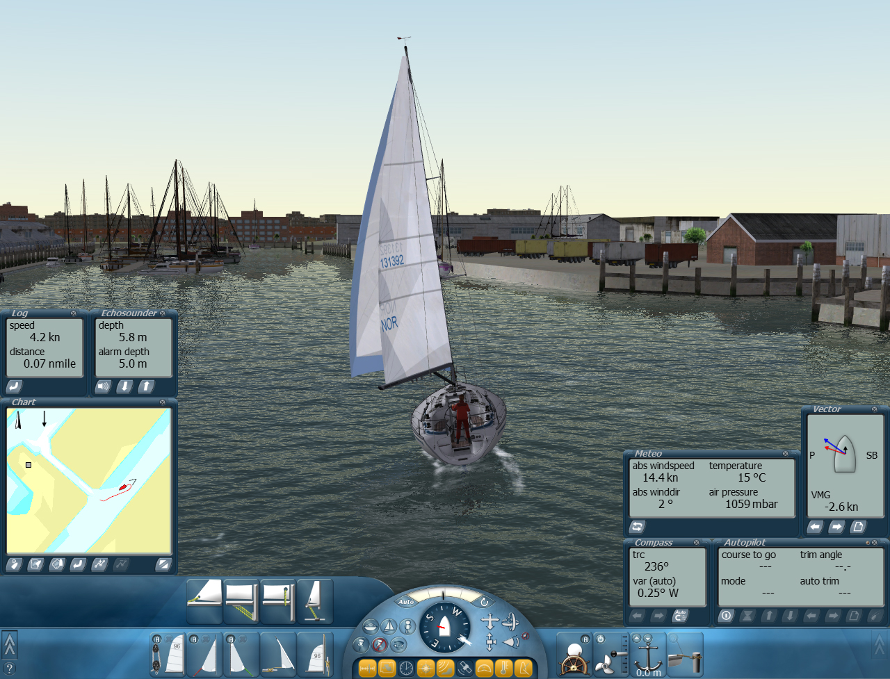 Sail Simulator full screenshot