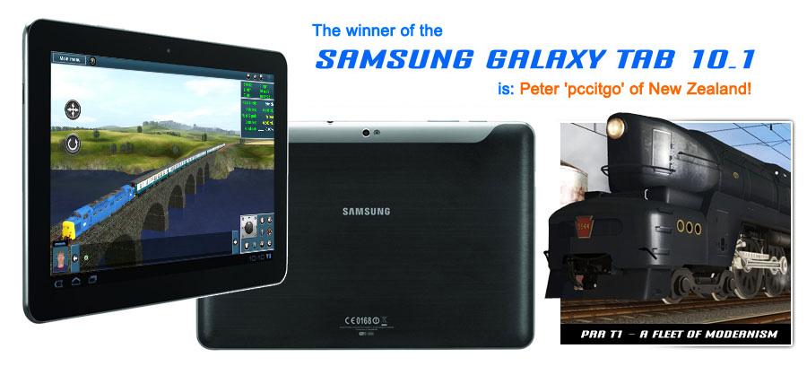 Samsung Galaxy Tablet Winner!